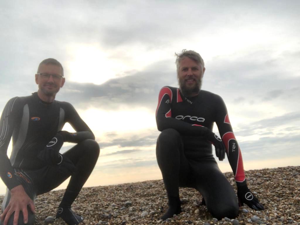 Matt and Andy on Dunwich beach